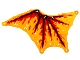 Part No: bb1183  Name: Cloth Wing Dragon Left, Black Bones, Red and Dark Red Flames Pattern