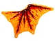 Part No: bb1184  Name: Cloth Wing Dragon Right, Black Bones, Red and Dark Red Flames Pattern