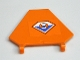 Part No: x1435pb005  Name: Flag 5 x 6 Hexagonal with Coast Guard Logo Pattern (Sticker) - Set 7738