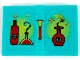 Part No: 33009px1  Name: Minifigure, Utensil Book 2 x 3 with Red and Yellow Bottles, Flasks and Sparkles Pattern