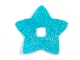 Part No: clikits231pb01  Name: Clikits, Icon Accent Foil Star 6 3/8 x 6 3/8 with Textured Iridescent Pattern