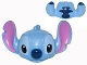 Part No: 24783pb01  Name: Minifigure, Head Modified Alien with Big Pink Ears, Black and Bright Light Blue Eyes and Dark Blue Nose Pattern (Stitch)