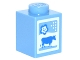 Part No: 3005pb016  Name: Brick 1 x 1 with Cow and Flower Pattern (Milk Carton)