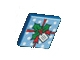 Part No: 3068bpb0383  Name: Tile 2 x 2 with Groove with Ribbon and Holly Pattern