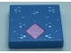 Part No: 3068bpb1516  Name: Tile 2 x 2 with Groove with Metallic Light Blue Spots and Pink Diamond Pattern (Bruni)