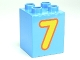 Part No: 31110pb079  Name: Duplo, Brick 2 x 2 x 2 with Number 7 Yellow Pattern