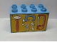 Part No: 31111pb025  Name: Duplo, Brick 2 x 4 x 2 with Tools on Yellow Background Pattern