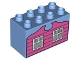Part No: 31111pb031  Name: Duplo, Brick 2 x 4 x 2 with Windows and Clapboards Pattern