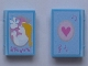 Part No: 33009pb017  Name: Minifigure, Utensil Book 2 x 3 with Princess with Dove, Heart Pattern (Stickers) - Set 5834