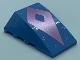 Part No: 47753pb106  Name: Wedge 4 x 4 No Studs with Metallic Light Blue Spots, Metallic Pink Diamond with Cutout Pattern (Bruni)