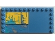 Part No: 6178pb018  Name: Tile, Modified 6 x 12 with Studs on Edges with Worn Yellow and Blue Panel Pattern (Sticker) - Set 75157