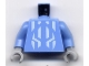 Part No: 973pb0355c01  Name: Torso Castle Knights Kingdom II with Jayko Pattern / Medium Blue Arms / Light Bluish Gray Hands