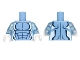 Part No: 973pb1671c01  Name: Torso Alien with Dark Blue Muscles Outline and White Edges Pattern / Trans-Medium Blue Arms / White Hands