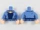 Part No: 973pb2951c01  Name: Torso Female Jacket over Dark Blue Shirt and Necklace, Light Nougat Neck Pattern / Medium Blue Arms / Light Nougat Hands