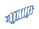 Part No: 98190  Name: Duplo Fence Railing with Scalloped Top and Clips on End