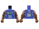 Part No: 973bpb135c01  Name: Torso NBA Milwaukee Bucks #34 Pattern / Brown NBA Arms