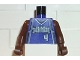 Part No: 973bpb143c01  Name: Torso NBA Sacramento Kings #4, 'WEBBER' on Back Pattern / Brown NBA Arms