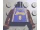 Part No: 973bpb182c01  Name: Torso NBA Los Angeles Lakers #8 (Road Jersey) Pattern / Brown NBA Arms