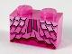 Part No: 3004pb198  Name: Brick 1 x 2 with Dress Ruffles and Magenta Ribbons Pattern