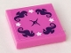 Part No: 3068bpb1376  Name: Tile 2 x 2 with Groove with 4 White Stars and Cushion Button Pattern (Sticker) - Set 41313