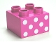 Part No: 3437pb046  Name: Duplo, Brick 2 x 2 with 8 White Dots Pattern