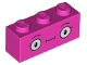 Part No: 3622pb094  Name: Brick 1 x 3 with Large Round Eyes and Eyelashes Pattern