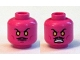 Part No: 3626cpb1269  Name: Minifigure, Head Dual Sided Moustache, Orange Eyes, Frown / Bared Teeth Pattern - Hollow Stud