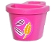 Part No: 4523pb001  Name: Minifigure, Container D-Basket with Seeds and Wheat Spike Pattern (Sticker) - Set 41059
