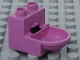 Part No: 4911  Name: Duplo Furniture Toilet (without Rim)