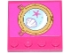 Part No: 6179pb100  Name: Tile, Modified 4 x 4 with Studs on Edge with Starfish and Clam / Scallop in Porthole Pattern (Sticker) - Set 41073
