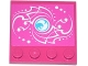 Part No: 6179pb101  Name: Tile, Modified 4 x 4 with Studs on Edge with Elves Water Power Icon and White Swirls and Dots Pattern (Sticker) - Set 41073