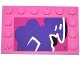 Part No: 6180pb068R  Name: Tile, Modified 4 x 6 with Studs on Edges with Graffiti Tag Pattern Model Right Side (Sticker) - Set 79104