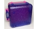 Part No: 64454c01  Name: Container, Box 3 x 8 x 6 2/3 Half Back with Glitter Trans-Purple Container, Box 3 x 8 x 6 2/3 Half Front (64454 / 64462)