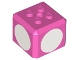Part No: 66855pb01  Name: Brick, Modified Cube, 4 Studs on Top with White Circles Pattern on Four Sides