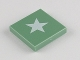 Part No: 3068bpb0416  Name: Tile 2 x 2 with Groove with White Five-Point Star Pattern