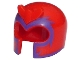 Part No: 10305pb01  Name: Minifigure, Headgear Helmet with Front Prongs and Dark Purple Pattern (Magneto)