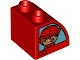 Part No: 11170pb06  Name: Duplo, Brick 2 x 2 x 1 1/2 with Curved Top with Firefighters Pattern