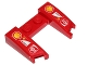 Part No: 11291pb01  Name: Wedge 3 x 4 x 2/3 Cutout with Shell, ups and Scuderia Ferrari Logos Pattern (Stickers) - Set 40190
