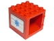 Part No: 11345pb01  Name: Duplo Building Door Frame 4 x 4 x 3 with Blue EMT Star of Life Pattern on Both Sides