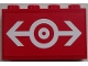 Part No: 14718pb002  Name: Panel 1 x 4 x 2 with Side Supports - Hollow Studs with Train Logo White Pattern (Sticker) - Set 60052