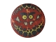 Part No: 14769pb089  Name: Tile, Round 2 x 2 with Bottom Stud Holder with Globlin Face with Small Teeth Pattern