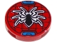 Part No: 14769pb296  Name: Tile, Round 2 x 2 with Bottom Stud Holder with Black Spider and Web Pattern