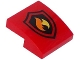 Part No: 15068pb052  Name: Slope, Curved 2 x 2 with Fire Logo Pattern