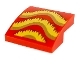 Part No: 15068pb226  Name: Slope, Curved 2 x 2 with Gold, Bright Light Orange, and Dark Red Fringe Pattern