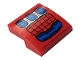 Part No: 15068pb284  Name: Slope, Curved 2 x 2 with Blue and Silver Spider-Man Mech Hand Armor with Web Pattern (Sticker) - Set 76146
