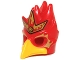 Part No: 16656pb02  Name: Minifigure, Headgear Mask Bird (Phoenix) with Yellow Beak and Elaborate Gold Headpiece with Red Flames Pattern