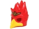 Part No: 16656pb03  Name: Minifigure, Headgear Mask Bird (Phoenix) with Yellow Beak and Small Gold Headpiece Pattern
