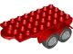 Part No: 18523c02  Name: Duplo Trailer Flatbed 4 x 8 with Hook and 4 Light Bluish Gray Wheels