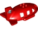 Part No: 18721pb03  Name: Duplo Airplane Midsize Fuselage Upper with Tail with Airplane Circling Mountains Pattern