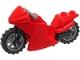 Part No: 18895c18  Name: Motorcycle Sport Bike with Black Frame, Flat Silver Wheels and Dark Bluish Gray Handlebars